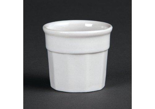 Olympia Wit Porselein Sauspot 4,5x5cm | 12 stuks