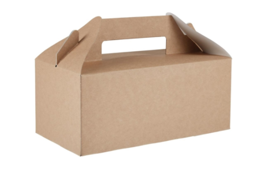 HorecaTraders Degradable Portable Food Containers | 125 pieces | kraft paper