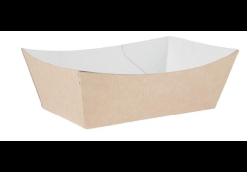 HorecaTraders Degradable food bowls | 12.4 cm | kraft paper | 500 pcs