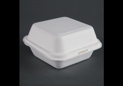 HorecaTraders Degradable hamburger containers | 500 pieces | 15.3 cm