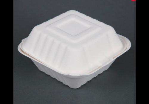 HorecaTraders hamburger trays 14.9cm white