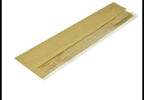 HorecaTraders Degradable Baguette Bags | kraft paper | 1000 pieces | 35.5 (h) x 17 (w) x 10.2 (d) cm