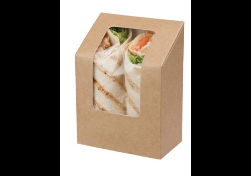 HorecaTraders Degradable wrap box | 500 pieces | 12.1 (h) x 9 (w) cm