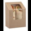 HorecaTraders Degradable wrap box | 500 pieces | 9 (h) x 5 (w) x 9 (d) cm