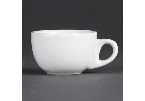 Olympia Weißes Porzellan Espressotasse 8,5cl | 12 Stück