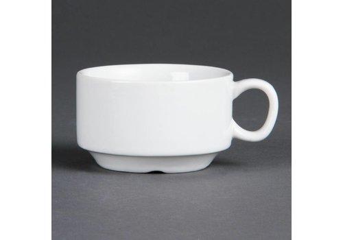 Olympia Weißes Porzellan Espressotassen 8,5 cl | 12 Stück