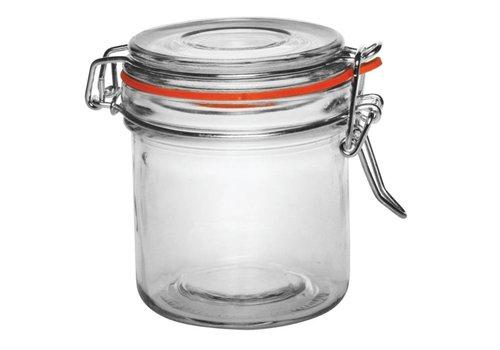 Vogue Glass jar / storage jar with clip closure, 0.35 l (6 pieces)