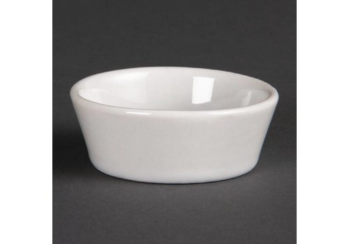 Olympia Weiße Porzellan-Schüsseln 5cm | 12 Stück