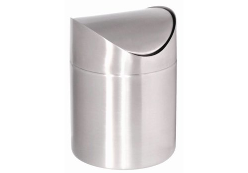 HorecaTraders Waste tray stainless steel 17 (h) x 12 (Ø) cm