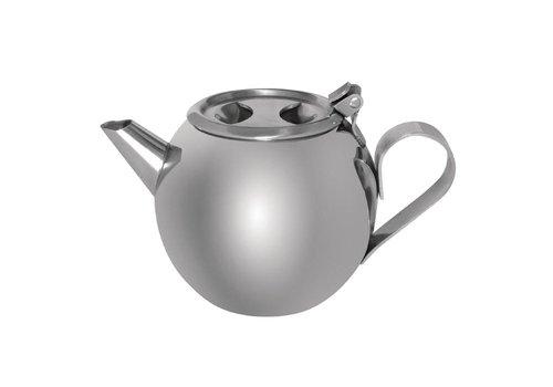 HorecaTraders Edelstahl stapelbar Teekanne | 0,5 Liter