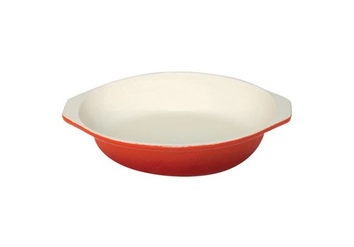 Vogue Round gratine dish orange 400ml