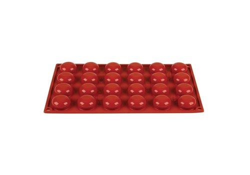 HorecaTraders Siliconen bakvormen rood | 24 vormen