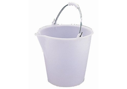 HorecaTraders Plastic bucket with 12 liter pouring rim