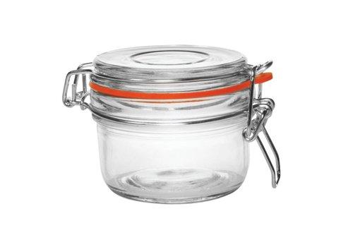 Vogue Glass preserving jar / storage jar with clip closure, 0,125 l (6 pieces)