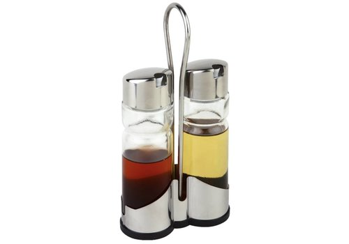 HorecaTraders Placemat oil and vinegar bottles | with holder