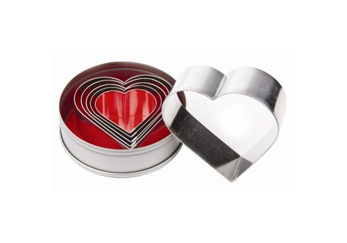 Vogue Heart shape smooth edge | Set of 6