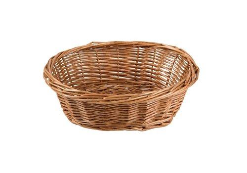 HorecaTraders Oval Table Basket 18 x 23 x 8 cm