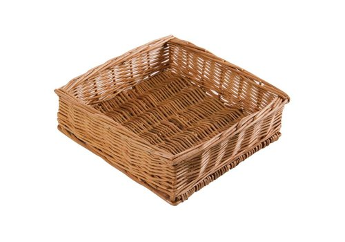 HorecaTraders Square Table Basket 24 x 24 x 7 cm
