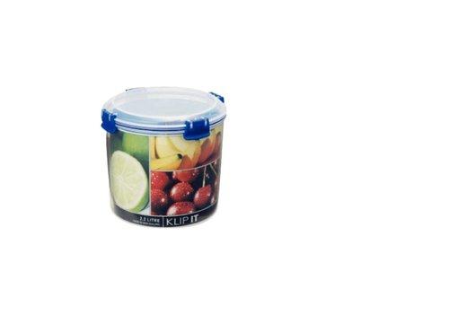 HorecaTraders Rund Lebensmittel-Box | 2,2 Liter