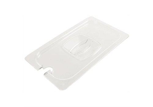 HorecaTraders Kunststoffdeckel GN 1/2 mit Löffel Aussparung
