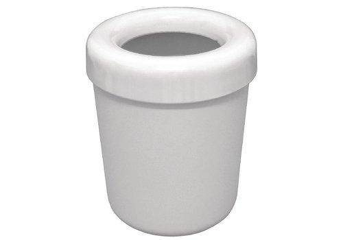 HorecaTraders Melamine waste bin white | 13 cm Ø