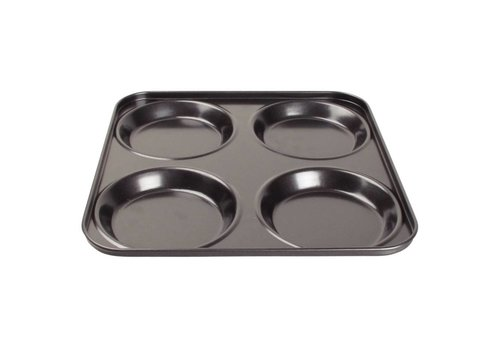Vogue Non-stick yorkshire pudding baking mold 4 forms