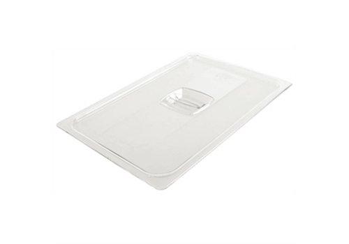 HorecaTraders Kunststoffdeckel GN 1/3 transparent