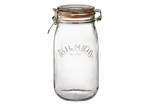 HorecaTraders Kilner glazen weckpot / voorraadpot met beugelsluiting, 1.5 l
