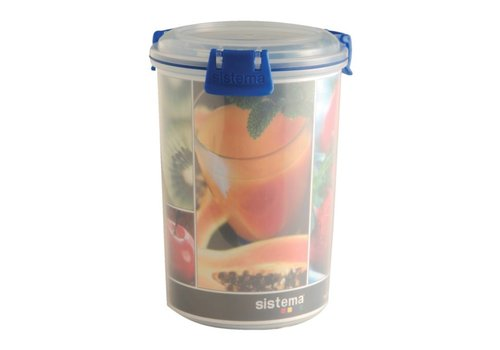 HorecaTraders Clip It Runde Lebensmittelbox 1 Liter