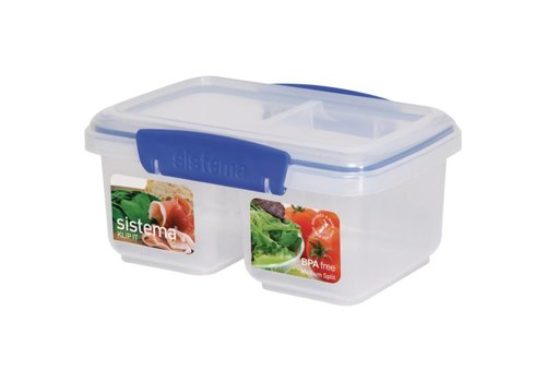 HorecaTraders Klip It split food box 1ltr