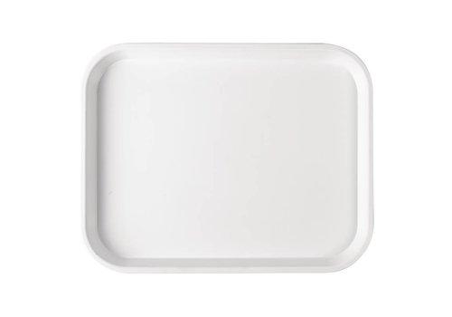 HorecaTraders Tablett aus weißem Kunststoff | 5 Formate