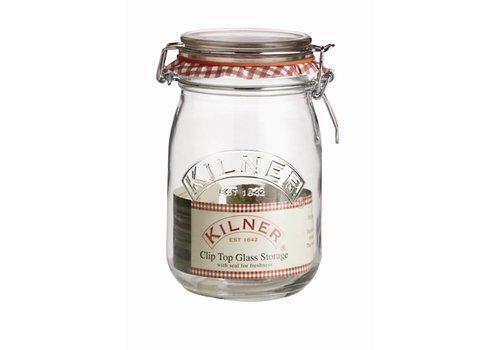 HorecaTraders Kilner Einmachglas mit Bügelverschluss 1 Liter