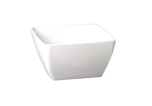 HorecaTraders Melamine square bowl white 4 Formats