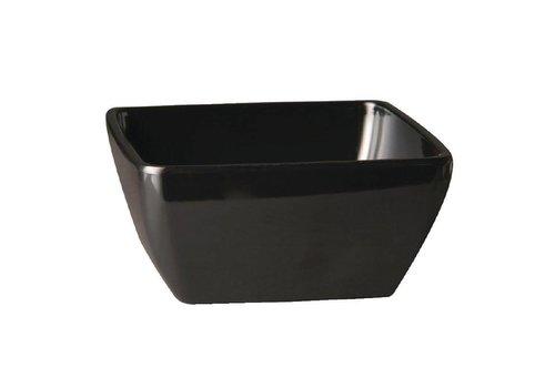 HorecaTraders Melamine square bowl black 3 formats