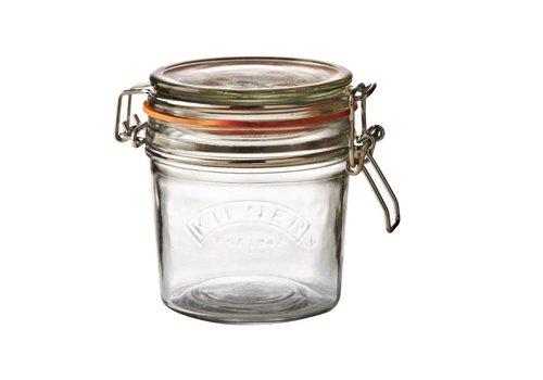 HorecaTraders Kilner glass storage pot with swing stopper 350 ml