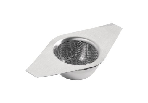 HorecaTraders Stainless steel strainer and cup holder