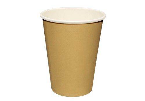 HorecaTraders Kaffeetassen hellbraun (50 Stück) 3 Formate