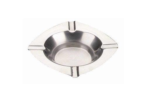 HorecaTraders Stainless steel ashtrays 12.5 cm