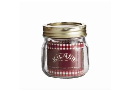 HorecaTraders Kilner preserving jar with a screw lid 0.25 Liter
