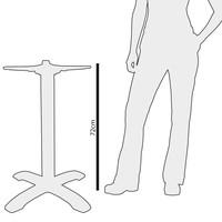 Cast iron table frame round - 72 cm high