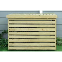 Wooden split cover for outdoor unit