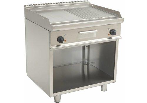 Saro Elektrische Grillplatte gerippt / glatt | 80x70x85 cm