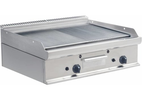 Saro Gas Grill Plate Smooth and Ribbed | 80x70cm