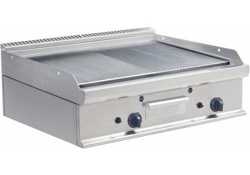 Saro Gas Grillplatte glatt und gewelltes | 80x70cm
