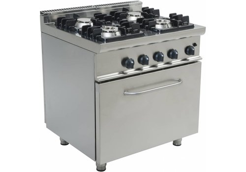 Saro Professional gas range with gas oven | 4 Burners