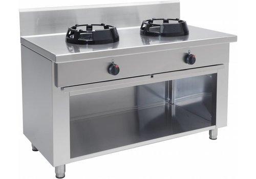 Saro Wok-Kochfeld Professionell 2 Brenner 28 kW