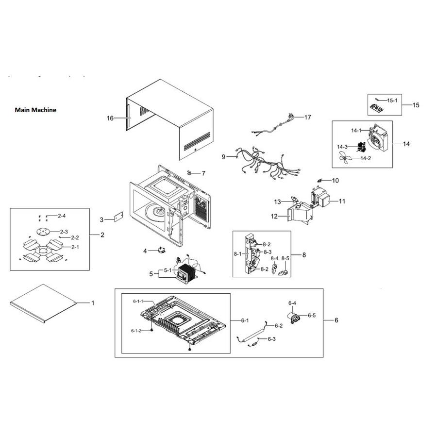 Samsung Microwave Parts Diagrambestmicrowave