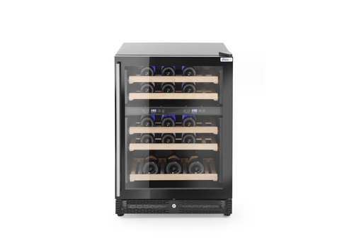 Hendi Wine cooler with two zones | 59.6 x 65.4 x 85.5 cm | 145L