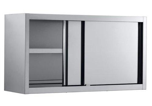 Combisteel Wandschrank aus Edelstahl mit Schiebetüren 100x40x65 cm