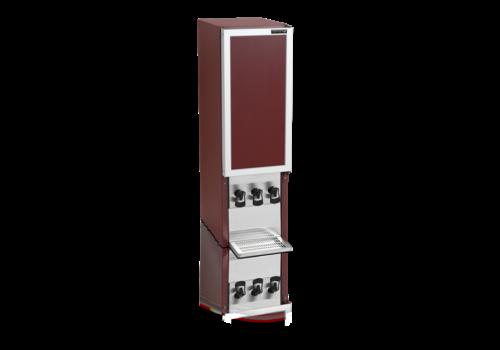 HorecaTraders Wine dispenser   Bordeaux   3x10 Liter   35 x 46 x 115cm